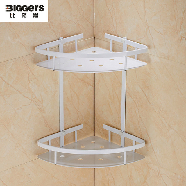 Free shipping North Europe style stainless steel bathroom corner ...