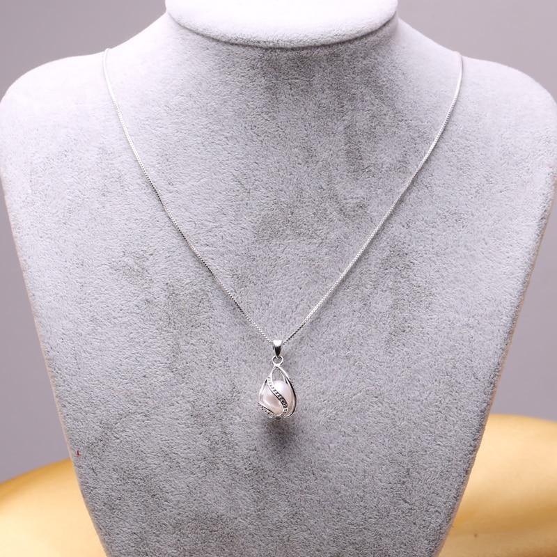 FENASY μαύρο μαργαριτάρι κολιέ Trendy S925 - Κοσμήματα - Φωτογραφία 5