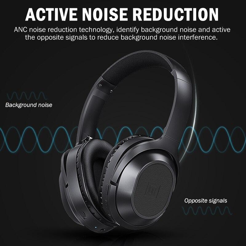 Langsdom BT25 casque antibruit actif casque sans fil Bluetooth avec Microphone pour téléphones ANC avec sac de transport 38 H - 2