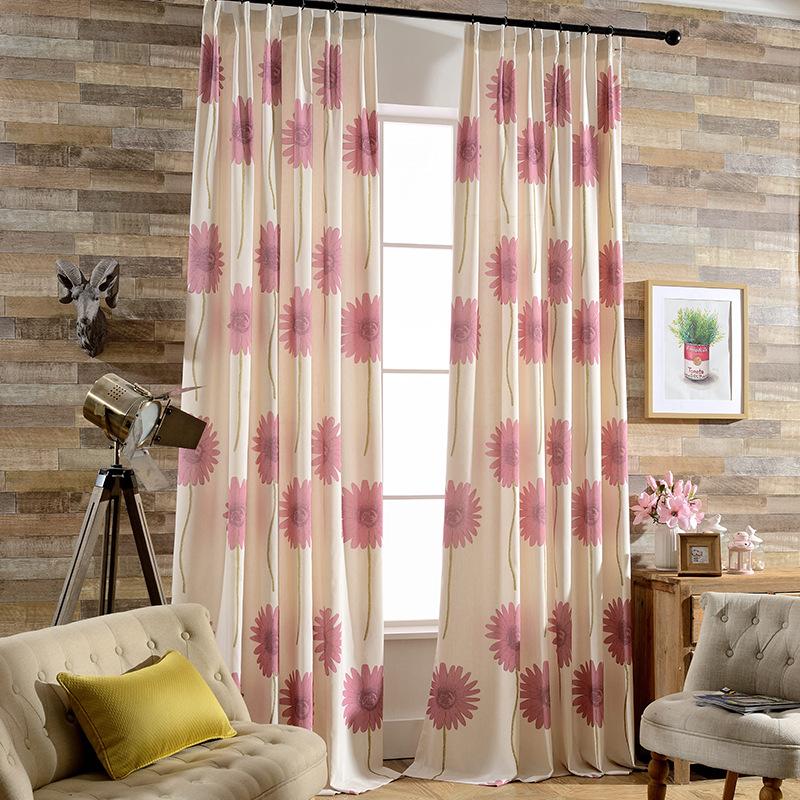 cortinas de saln comedor dormitorio sol flor de la moda moderna exquisito impreso cortina de polister