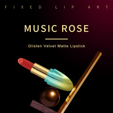 MUSIC ROSE Brand Makeup Colorful Red Lipstick TikTok Hot Matte Lip Stick Labiales Larga Duracion Korean Fashion Comestic