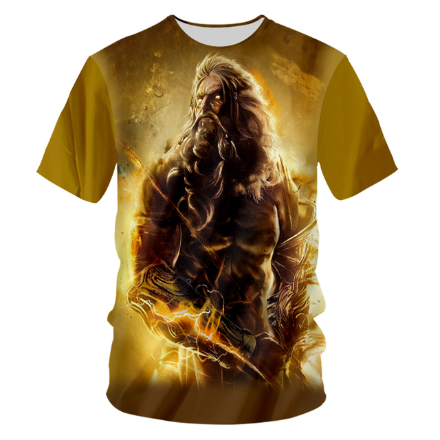CJLM God Of War Tshirts Casual T-shirt Unisex O Neck Tees Shirts 7XL 3