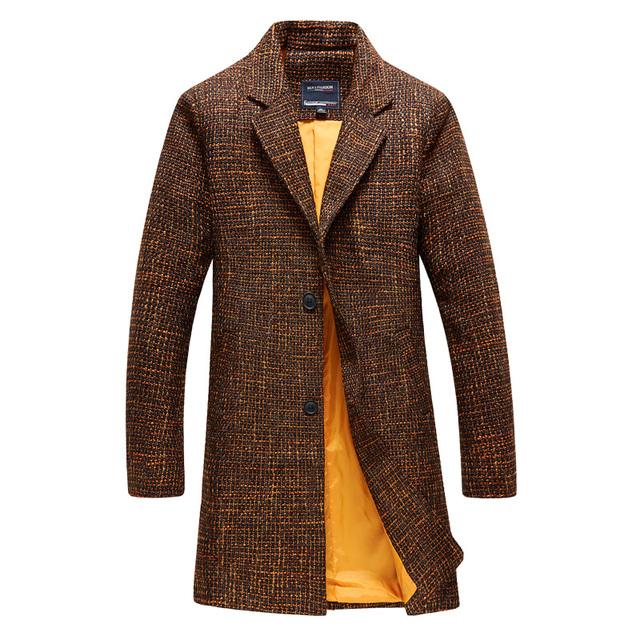 2016 otoño y el invierno Nuevo estilo de Los Hombres de ocio de moda estilo Largo trench coat de Los Hombres chaquetas Envío gratis