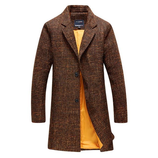 2016 осень и зима Новый стиль мужская мода отдыха Долго стиль пальто мужские куртки Бесплатная доставка