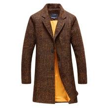 2018 осень и зима новый стиль Мужская мода досуг длинный Стиль Тренч мужские куртки Бесплатная доставка