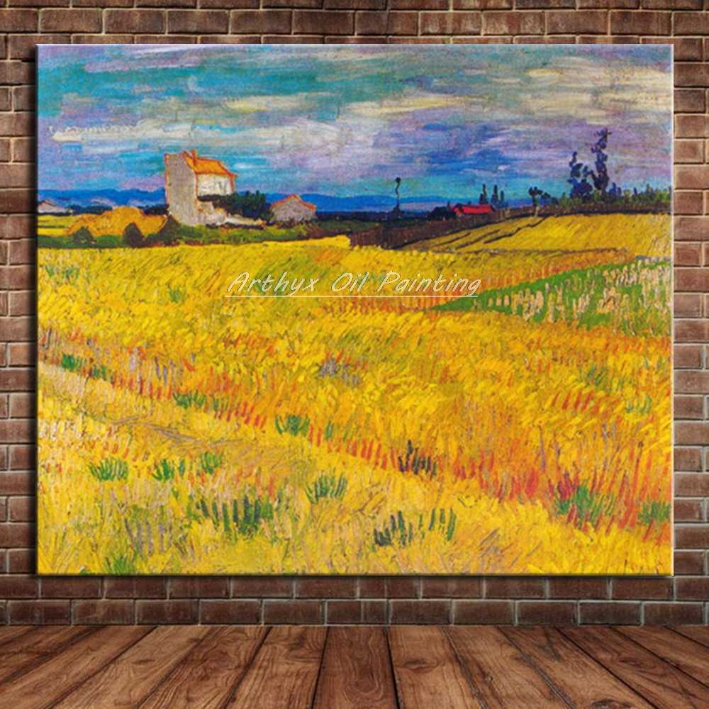 Rolled Wall art artwork Haystacks In Provence by Vincent Van GoghCanvas