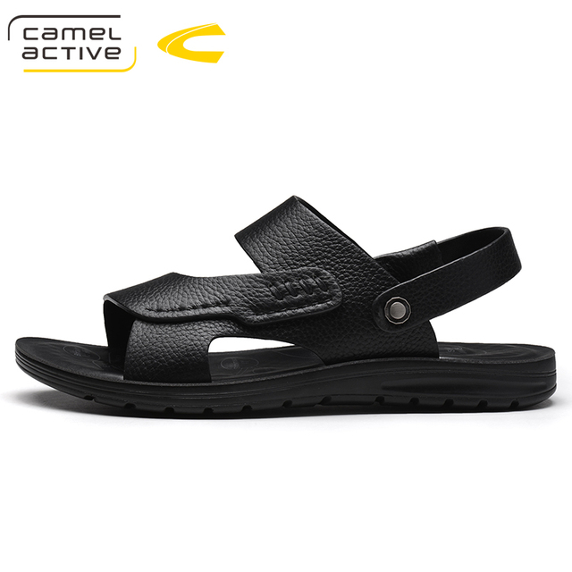 e8248a56671 Camel Active New Fashion Summer Sandals Men Shoes 2018 Brand Breathable  Quality Leather Beach Sandals Comfy Simple Men s Sandals