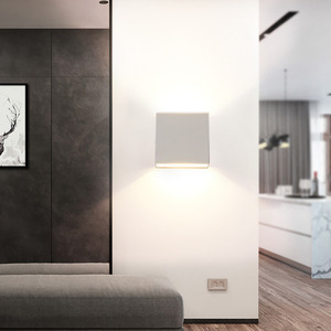 Image 5 - Led 벽 램프 6 w 디 밍이 가능한 머리맡 sconces 110 v 220 v 거실 연구 계단 실내 조명기구 호텔 통로 장식