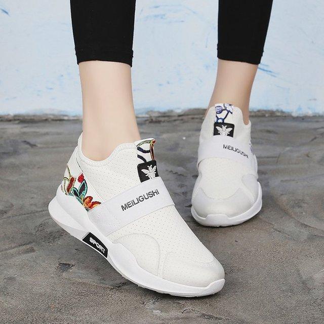 Plataforma Mujer Blanca Zapatos Moda Casual Mujeres Zapatillas 2018 Tc3lK1FJ