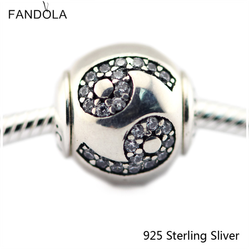 2.5MM Cancer Star Sign Silver Charms 925 Sterling Silver Fit Bracelet Jewelry DIY Bead for Women Jewelry Making Gift