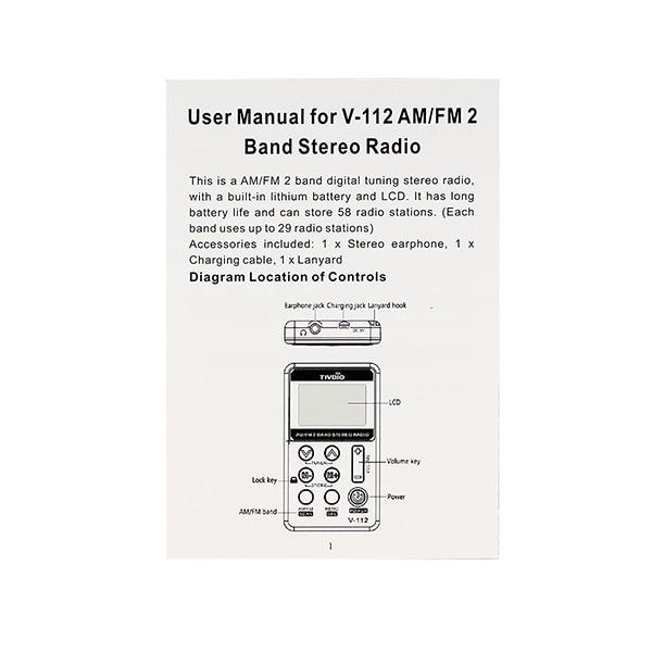 tivdio v-112 manual