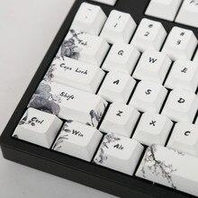 أغطية مفاتيح أغطية مفاتيح حبر 5 أسطح صبغ ملف فرعي 104 مفتاح زيادة تخطيط أنيس للوحة المفاتيح الميكانيكية القياسية وصلت حديثًا