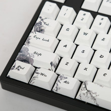 Ink keycap  keycaps 5-Surfaces Dye sub Profile 104 Key ANIS Layout Augment For Standard Mechanical Keyboard Newly Arrival