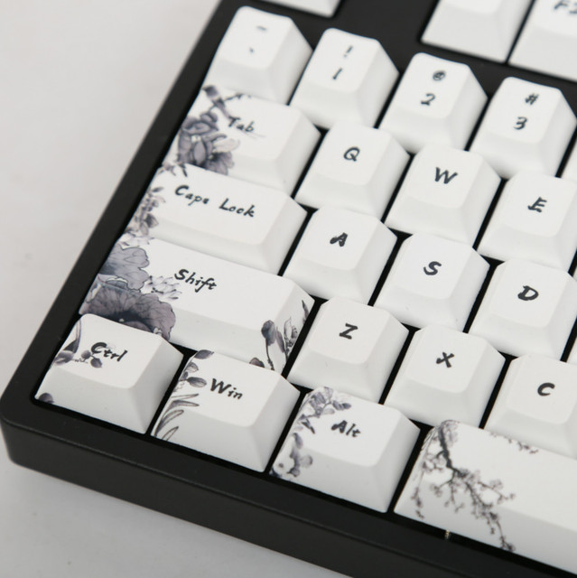 Ink keycap  keycaps 5 Surfaces Dye sub Profile  104 Key ANIS Layout Augment For Standard Mechanical Keyboard Newly Arrival