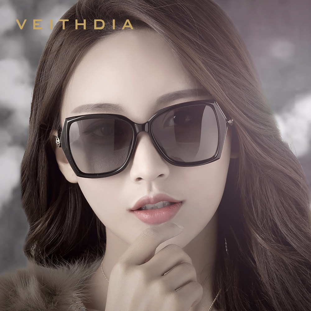 de309e369 VEITHDIA Retro Womens Sun glasses Polarized Luxury Ladies Brand Designer  Sunglasses Eyewear For Women Female V3039