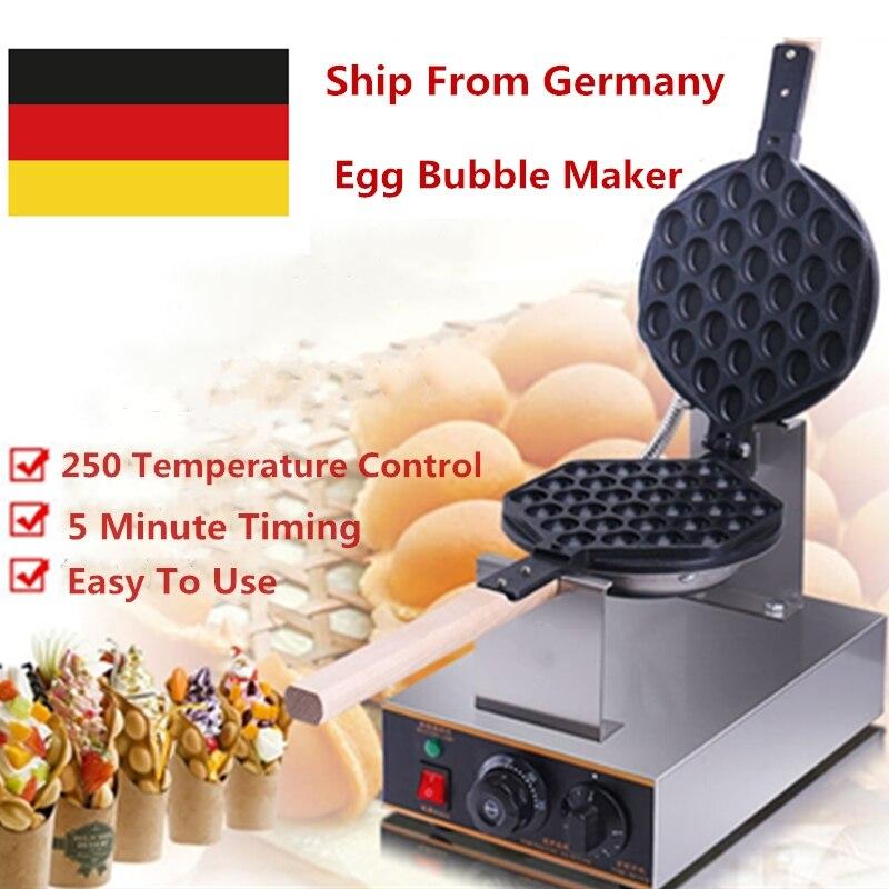 Germany Stock 220V/ 110V Electric Hong Kong egg Bubble Waffle Maker Eggettes Bubble Puff Waffle Iron Machine цена и фото
