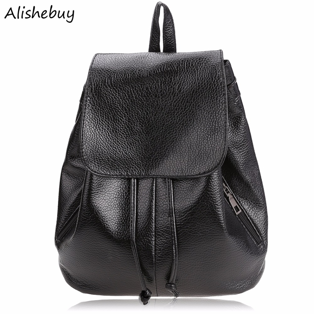 3143bb98063b Fashion Women Floral Print Cover Leather Backpacks School Bags Teenage  Girls Travel Small Backpack Mochila Feminina SVN030883-in Backpacks from  Luggage ...