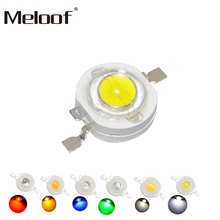 10 шт. настоящий полный ватт 1 Вт 3 Вт Высокая мощность светодиодный лампочка диоды SMD 110-120LM светодиодный s чип для 3 Вт-18 Вт Точечный светильник