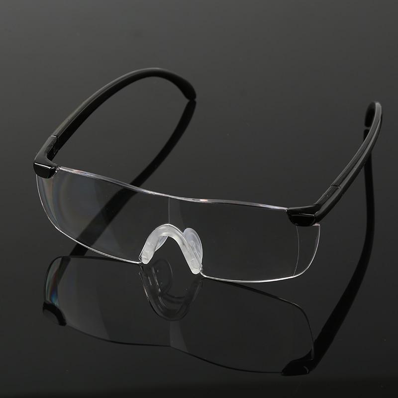 Óculos com Alta Ampliação da Visão Lupa preto