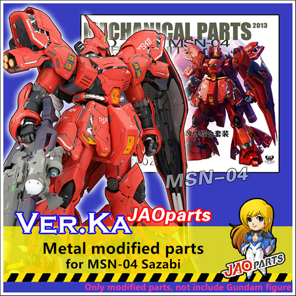 JAOparts Metal Modified parts set for Bandai MG 1 100 MSN 04 Sazabi Gundam
