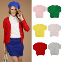 Women Casual Cashmere Cardigan Round Neck Knit Warm Long Sleeve Sweater Coat New