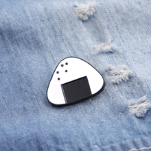 pins Brooches For Women Onigiri Badge white rice with black Seaweed enamel Pin And Brooch fastfood lapel pin creative