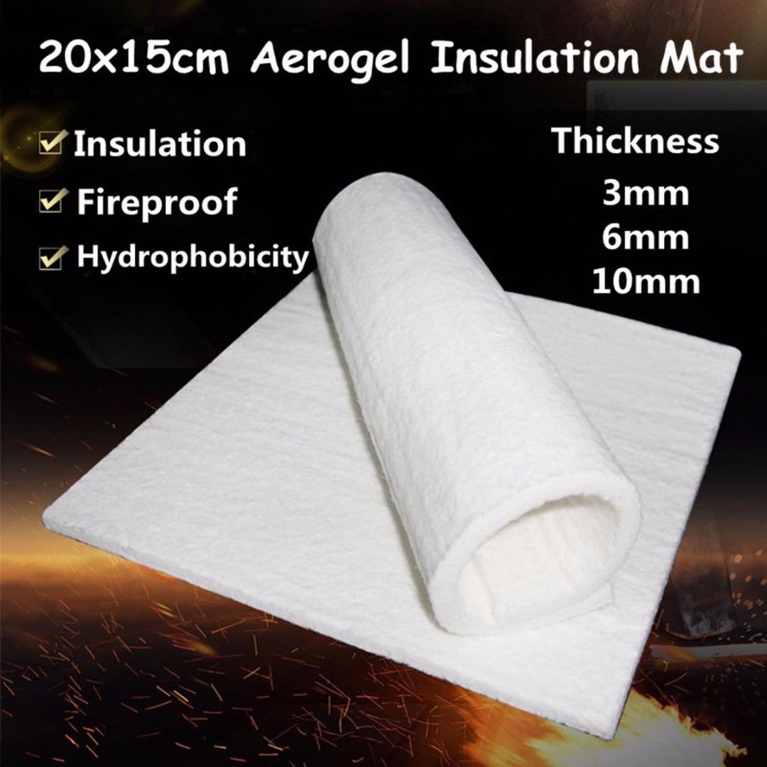 1pc 3/6/10mm Super Light Silica Aerogel Heat Insulation Mat Hydrophobic Mat  Soft Lightest Solid Pad For Industrial Storage Tanks