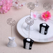 wedding party table decoration cards clips new fashion bride and groom place name card holders photo holder
