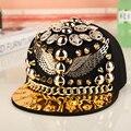 Nueva llegada Unisex primavera verano águila de Metal remache botón gorras de béisbol profesional punky de los pernos prisioneros hombres Hiphop sombreros casquillo de la personalidad