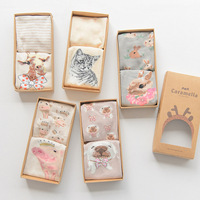 OLN Gift Box Women 3d Cute Animal Cat Patterns Cotton Boat Socks Female Spring Summer Fashion