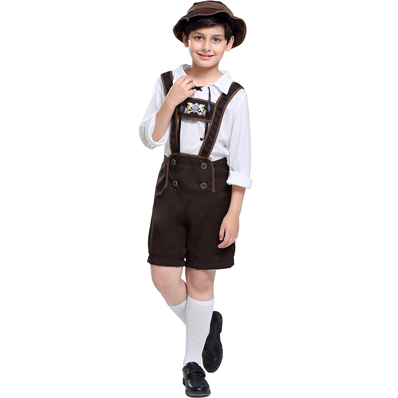 German Oktoberfest boy performance costume Bavarian boy clothes Halloween Alpine mountain stage performance clothing clothes