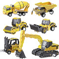 New Arrival 2016 Novelty & Fashion Engineering Series Wind Up Digger Loader Concrete Mixer 3D Puzzle Movable DIY Educational Toy