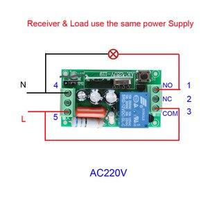 Image 3 - Interruptor de luz com controle remoto sem fio, interruptor de luz 10a com saída de relé 220v, módulo de receptor de canal + 50 500m transmissor
