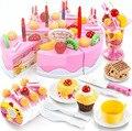 75 Unids Juguetes Clásicos Juegos de Imaginación Cocina Juguetes Rosa/Azul Pastel de Juguete para Niños Juguetes Para Niñas niños juego de cocina comida de juguete YJ0653