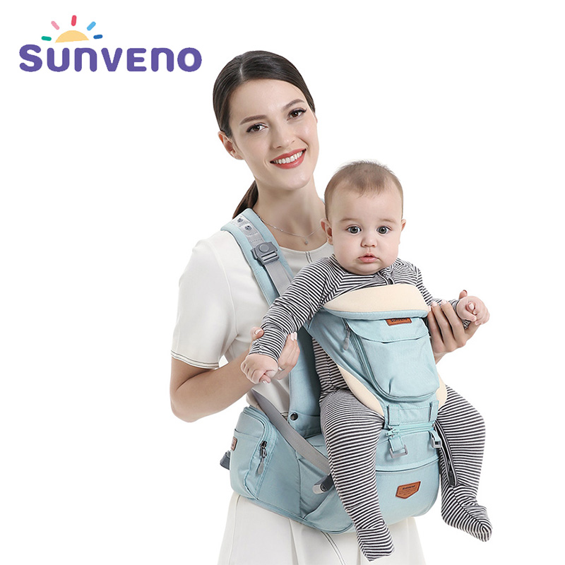 Sunveno Brand Ergonomic Baby Carrier Sling Backpack 360 Hipseat Baby Wrap Sling For Newborn Kangaroo Baby Holder Belt For Kids