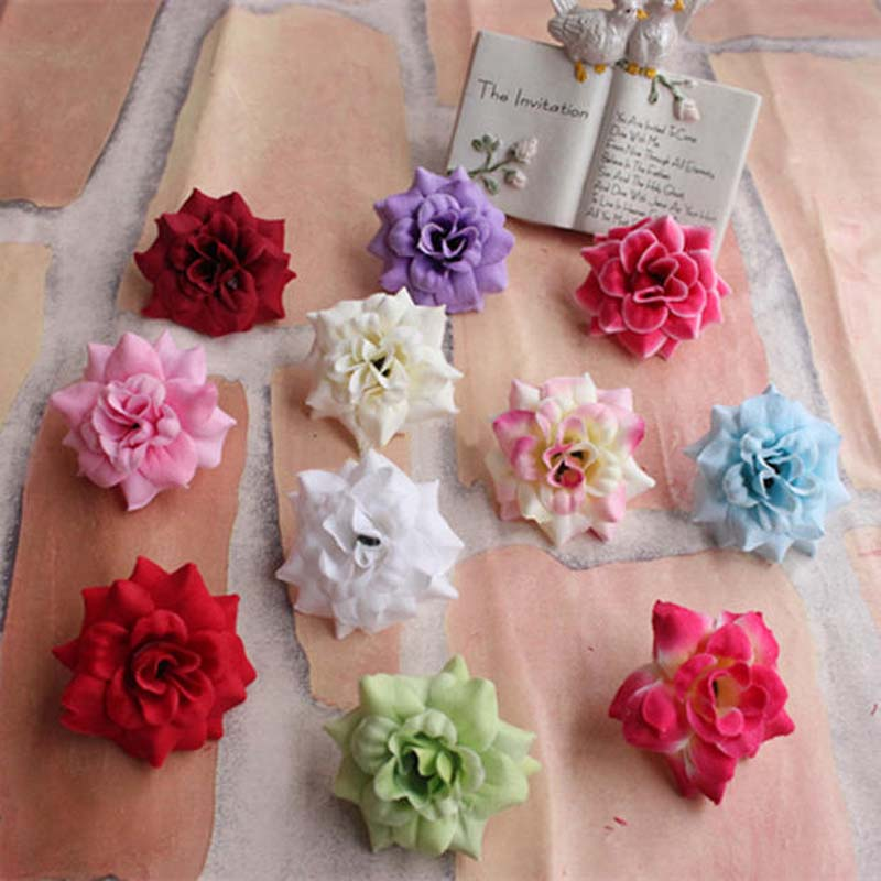 45cm head44pcs multicolor fake small heads roseartificial silk roses bouquet arrangementsdiy hairbrooch wedding decorations in artificial dried 45cm head44pcs multicolor fake small heads roseartificial silk roses bouquet arrangementsdiy hairbrooch wedding