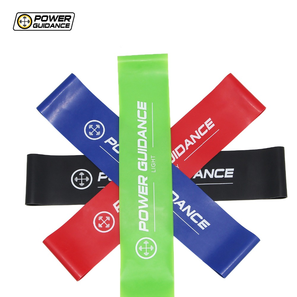 POWER GUIDANCE Latex Resistance Bands Loop Fitness Bands -4 Levels - Exercise Sport Band For Legs And Arms