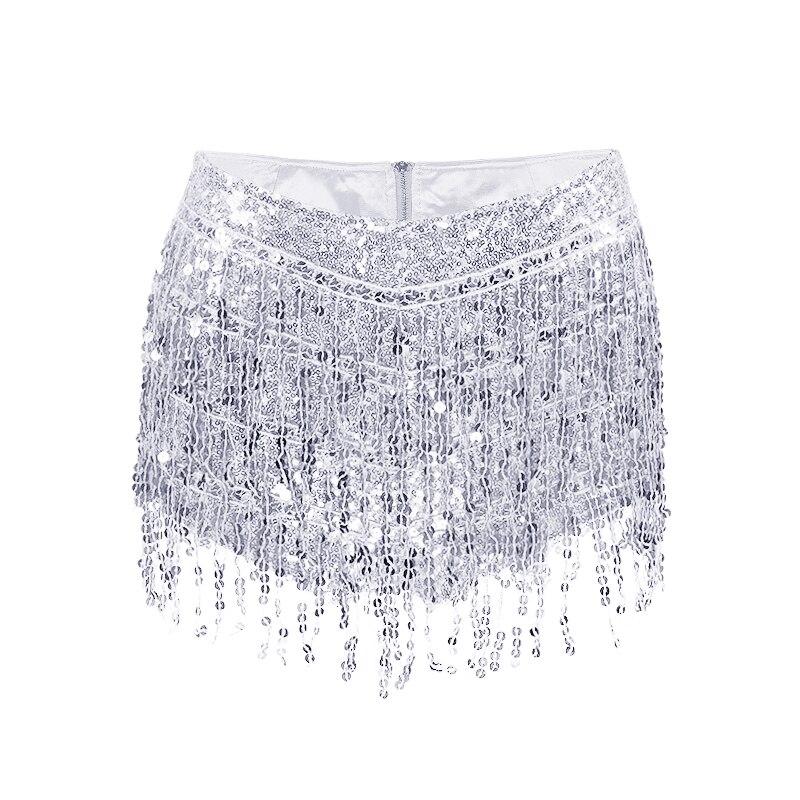 Summer Women Tassel Sequin Mini   Shorts   Zipper Fly High Waist Hot Fashion Skinny Slim Sexy Party Club   Shorts   Skirts 6Q1746