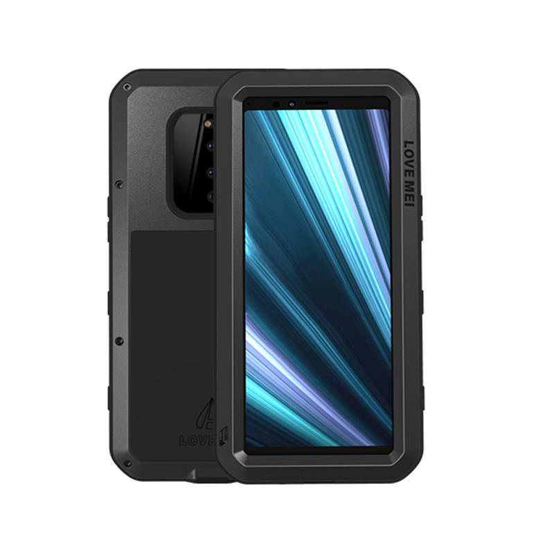 Aluminum Metal Armor Case For Sony Xperia 1 Case Shockproof Full Body Heavy Duty Cover For Sony Xperia 1 Case+Gorilla Glass etuiAluminum Metal Armor Case For Sony Xperia 1 Case Shockproof Full Body Heavy Duty Cover For Sony Xperia 1 Case+Gorilla Glass etui