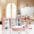 5Pcs/set Elegant lady makeup bathroom toiletries kit Creative resin bathroom accessories washing set Wedding Decoration Gift
