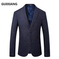 2018 autumn new high quality men's fashion casual red blazers men coats jacket classics business woolen blazer man suit