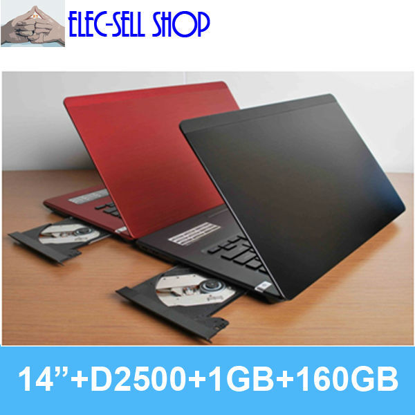Brand new laptops notebook computer L700 14 inch 1GB/160GB real Dual core Intel D2500/D2550/N2600 CPU with DVD RW