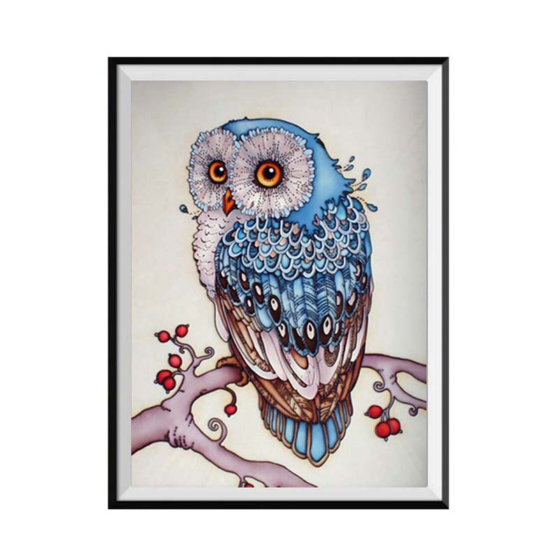 Hoomall 5D DIY Owl Diamond Embroidery Sale Painting Full Round Cross Stitch Pictures of  ...