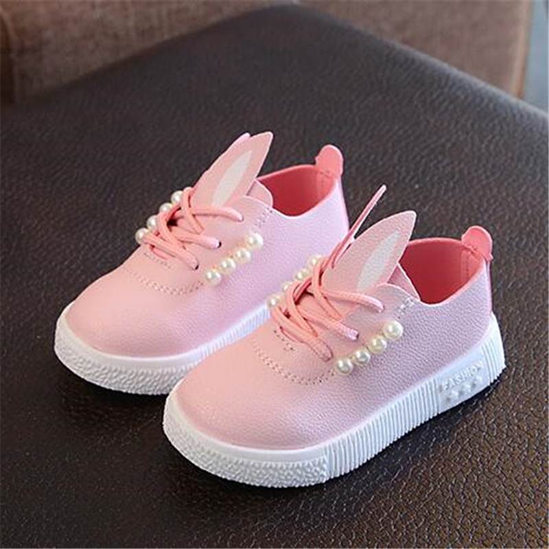 New Arrival Girls Shoes Children Casual Shoes PU Leather Soft Comfortable Loafers Lace-Up Girls Flats Kids Sneakers 02A