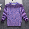 Ropa de Niños Unisex para Niños y Niñas de Otoño de Punto Superior Suéter Moda Suéter Cardigan Informal Suéter de Algodón 3-7 edades