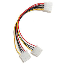 Top Deals Computer Molex 6 Inches 4 Pin Power Supply Y Splitter Cable,1 Male to 2 Female