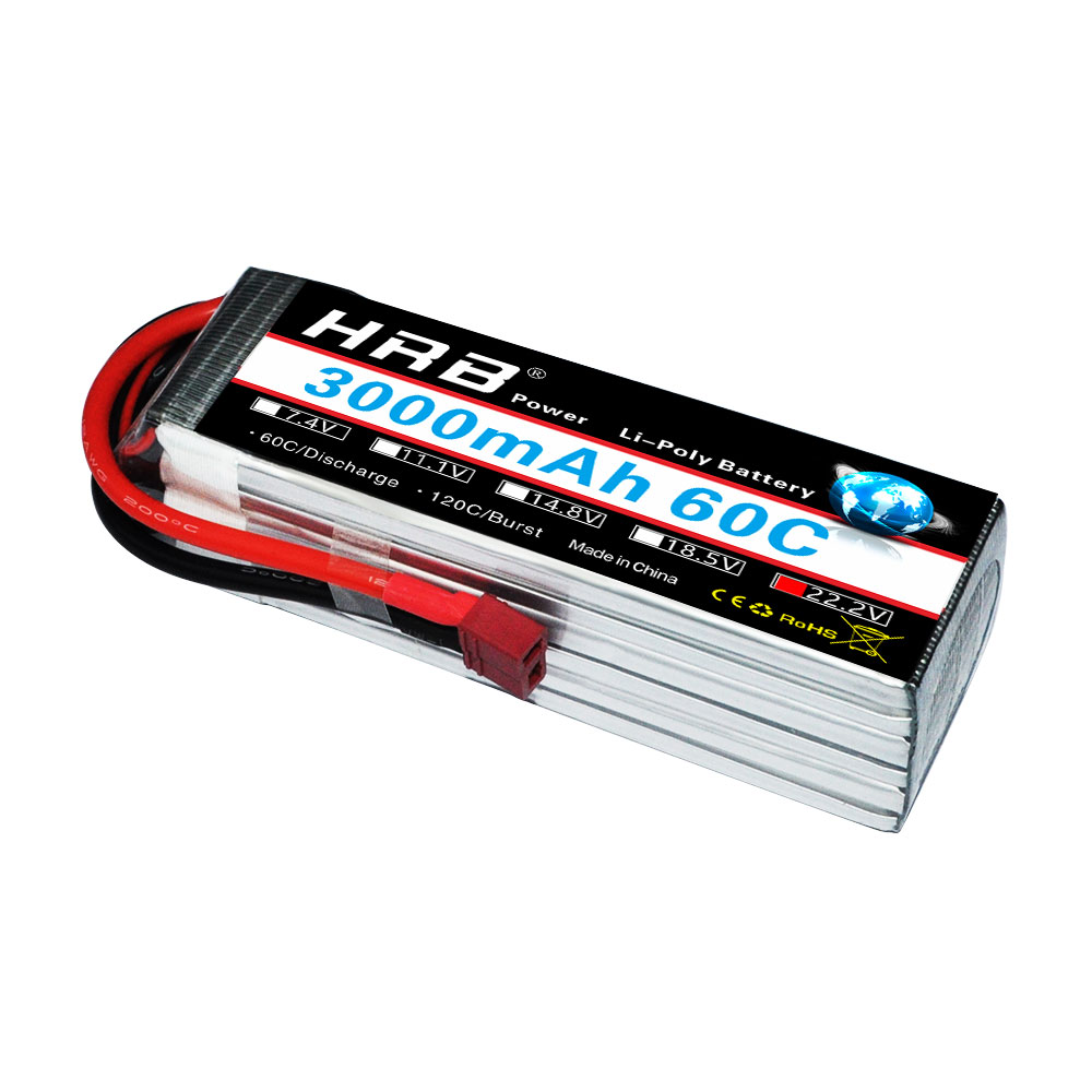 HRB RC Drone AKKU 22 2V 3000mAh 60C Lipo Battery 6S For RC FPV Car Helicopter