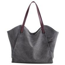 New Vintage Frauen Segeltuchhandtasche Casual Große Kapazität Bag Weibliche Tote Trapeze Geraffte Schulter Umhängetasche einkaufstasche Bolsas