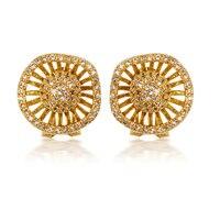 Happy Wheels Women CZ Drop Earrings Luxury Dressed Wedding Party Gift Pave Setting 194 PCS AAA