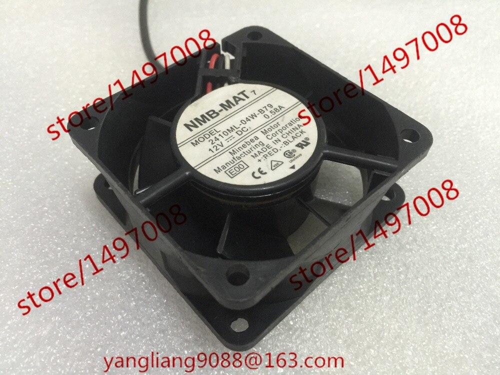 Free Shipping For  NMB 2410ML-04W-B79, E00 DC 12V 0.58A, 60x60x25mm 3-wire 70mm  Server Cooling Square fan